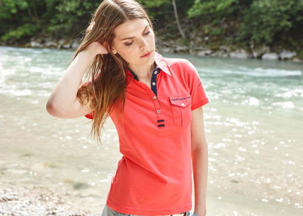 Damen Polo Shirt Alpenkrokus