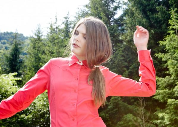 Damen Bluse Alpenglühen