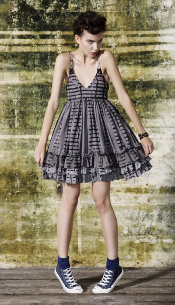 LS14 party ruffle dress